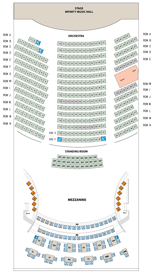 Seating Chart - Infinity Hall Hartford