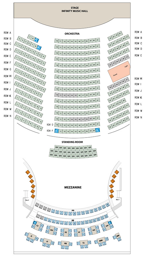 Hartford Seating Chart