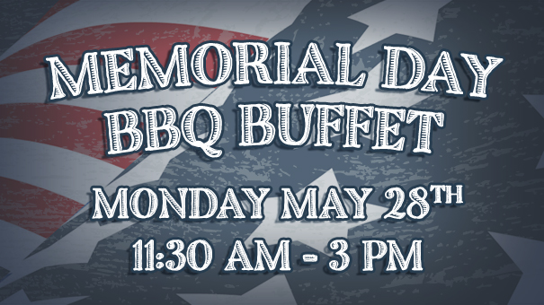 Memorial Day BBQ buffet on the patio